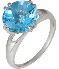кольцо c топазом из серебра 3077001617 от EVORA
