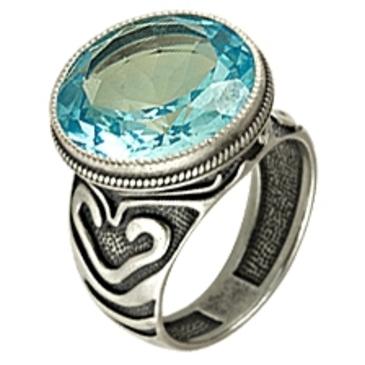 кольцо c топазом из серебра 3071001662 от EVORA