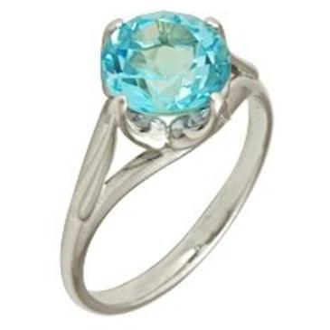 кольцо c топазом из серебра 3077000673 от EVORA