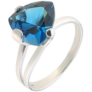 кольцо c топазом из серебра 3077001409-2 от EVORA