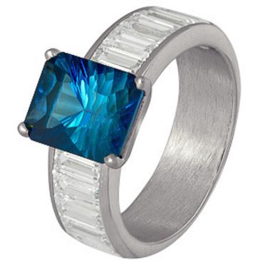 кольцо c топазом из серебра 3757002271л-1 от EVORA