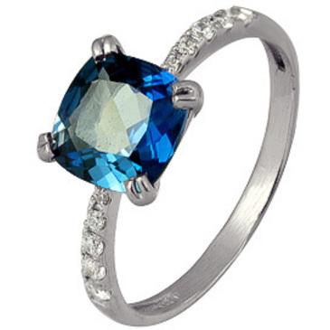 кольцо c топазом из серебра 3757003116-1 от EVORA