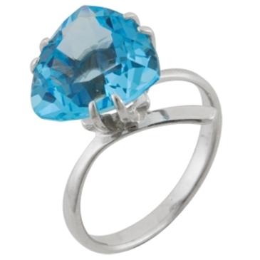 кольцо c топазом из серебра 3077001413 от EVORA