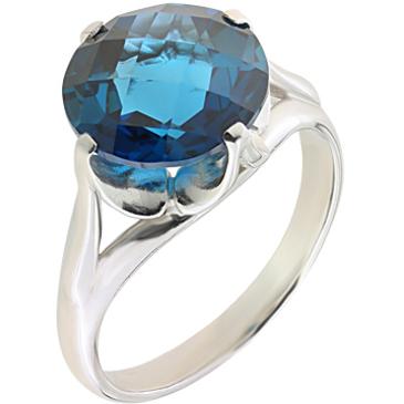 кольцо c топазом из серебра 3077000673-2 от EVORA