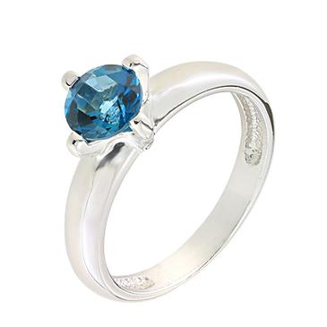 кольцо c топазом из серебра 3077001771-1 от EVORA