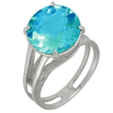 кольцо c топазом из серебра 3077000498 от EVORA