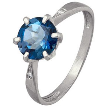 кольцо c топазом из серебра 3757003120-1 от EVORA
