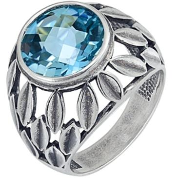 кольцо c топазом из серебра 3071002296