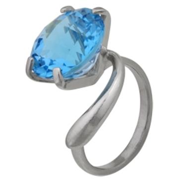 кольцо c топазом из серебра 3077000149