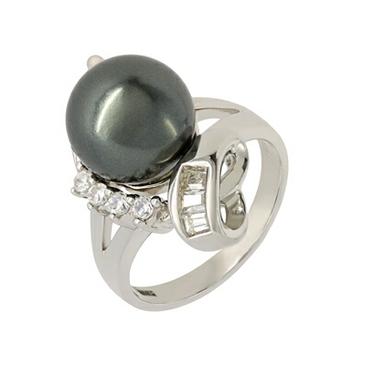 кольца c жемчугом из серебра bp020r
