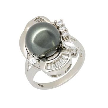 Кольцо c жемчугом из серебра bp013r
