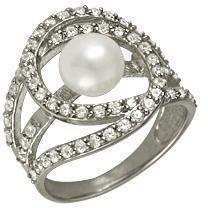 кольцо c жемчугом из серебра 1R627144
