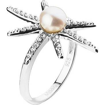 Кольцо Misaki морская звезда с жемчугом из серебра qcurshootingstar