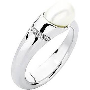 Кольцо Misaki с жемчугом из серебра QCURELITE