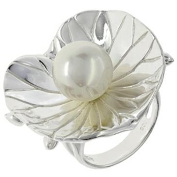 кольцо с жемчужиной из серебра s210530013