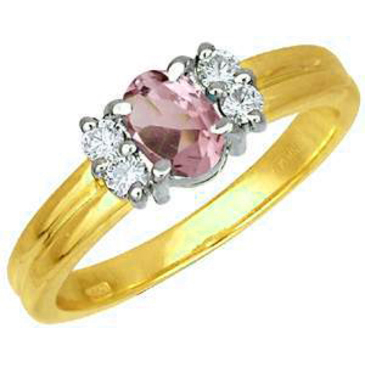 кольцо c аметистом из желтого золота 17121074