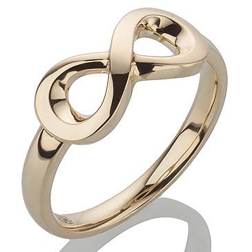 Кольцо бесконечность 750 пробы из желтого золота 8ring_y