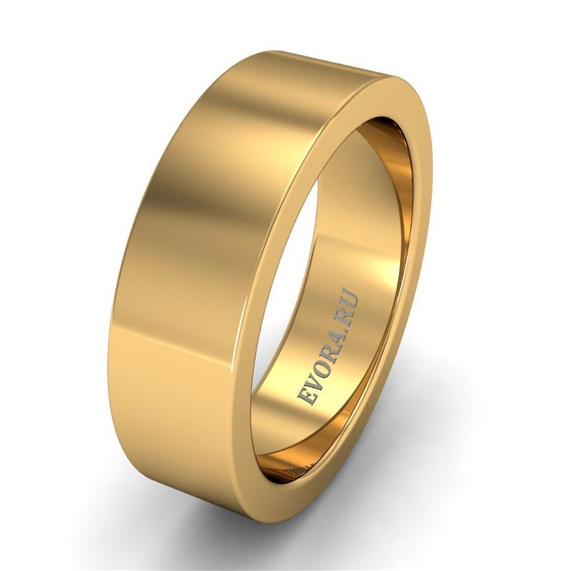 Кольцо обручальное классическое 750 пробы шириной 6 мм из желтого золота W167Y