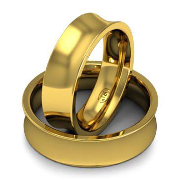 Кольцо обручальное классическое 750 пробы шириной 6 мм из желтого золота W867Y