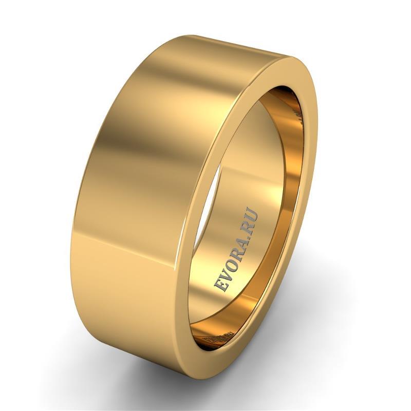 Кольцо обручальное классическое 750 пробы шириной 7 мм из желтого золота W177Y