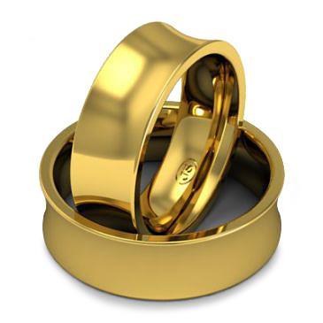 Кольцо обручальное классическое 750 пробы шириной 7 мм из желтого золота W877Y