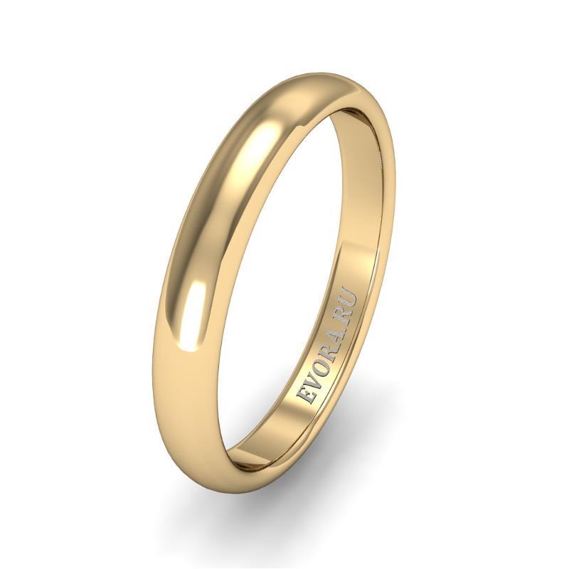 Кольцо обручальное классическое шириной 3 мм из желтого золота W235Y