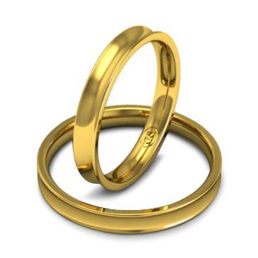 Кольцо обручальное классическое шириной 3 мм из желтого золота W835Y