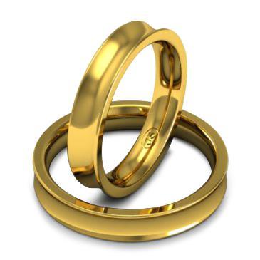 Кольцо обручальное классическое шириной 4 мм из желтого золота W845Y