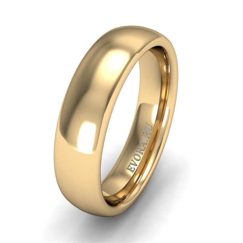 Кольцо обручальное классическое шириной 5 мм из желтого золота W555Y