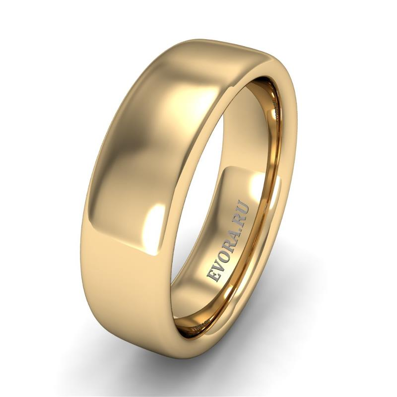 Кольцо обручальное классическое шириной 6 мм из желтого золота W365Y
