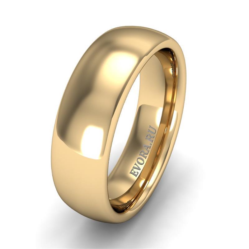 Кольцо обручальное классическое шириной 6 мм из желтого золота W565Y