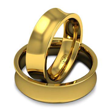 Кольцо обручальное классическое шириной 6 мм из желтого золота W865Y