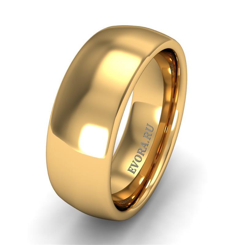 Кольцо обручальное классическое шириной 7 мм из желтого золота W577Y