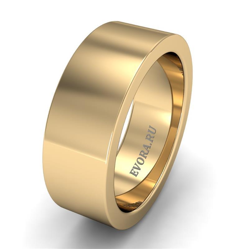 Кольцо обручальное классическое шириной 7 мм из желтого золота W175Y