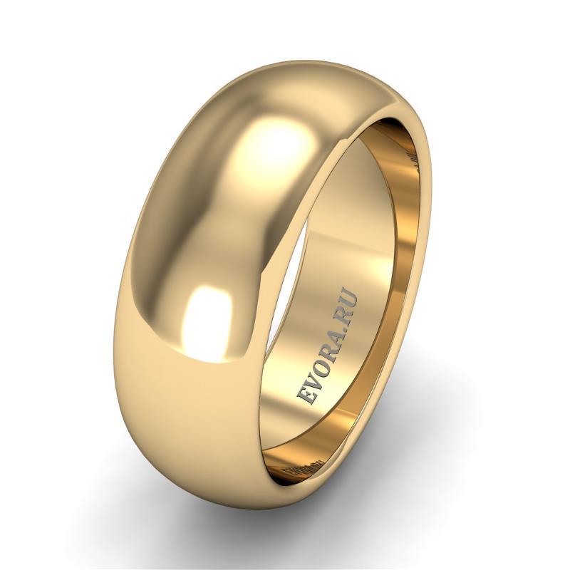 Кольцо обручальное классическое шириной 7 мм из желтого золота W275Y