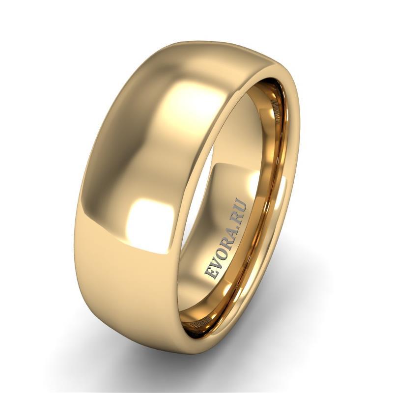 Кольцо обручальное классическое шириной 7 мм из желтого золота W575Y