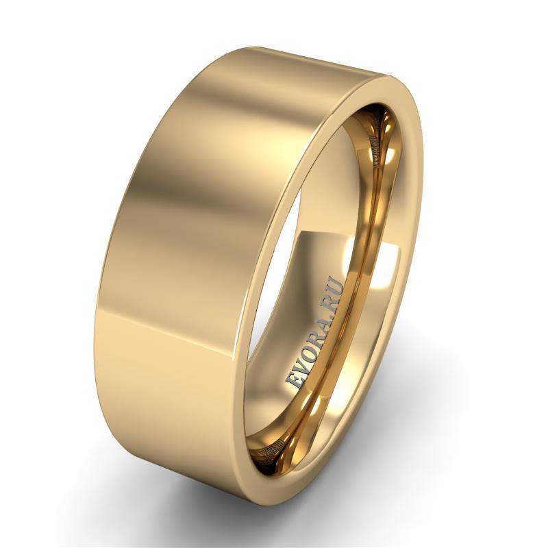 Кольцо обручальное классическое шириной 7 мм из желтого золота W775Y