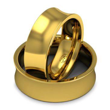 Кольцо обручальное классическое шириной 7 мм из желтого золота W875Y