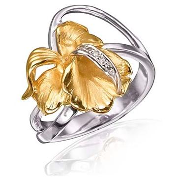 Кольцо 'ОЧАРОВАНИЕ' из желтого золота К-14026