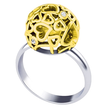 Кольцо с бриллиантами ДЛЯ ЛЮБИМОЙ из желтого золота К-41001