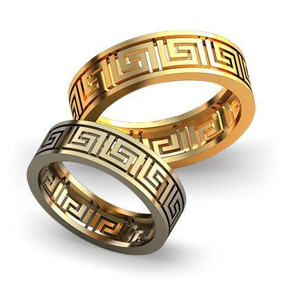 Обручальное кольцо с выпильным орнаментом из желтого золота dg_ring_057
