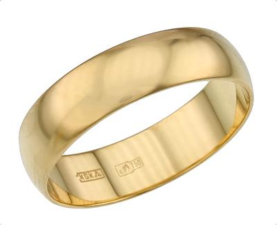 4c3798a9db9d Купить классическое обручальное кольцо из золота 750 пробы в Москве