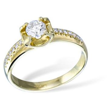 Кольцо  с бриллиантами из желтого золота KR02831YG от EVORA