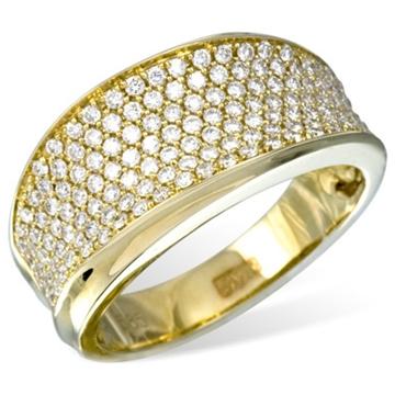 Кольцо  с бриллиантами из желтого золота R12242YG от EVORA