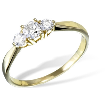 Кольцо  с бриллиантами из желтого золота R12959YG от EVORA