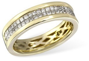 Кольцо  с бриллиантами из желтого золота R13898YG от EVORA