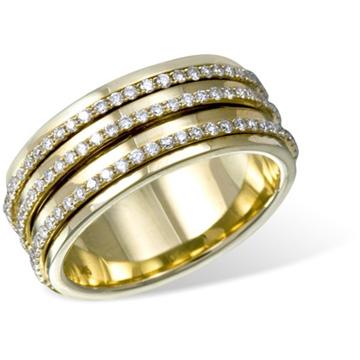 Кольцо  с бриллиантами из желтого золота R16782YG от EVORA