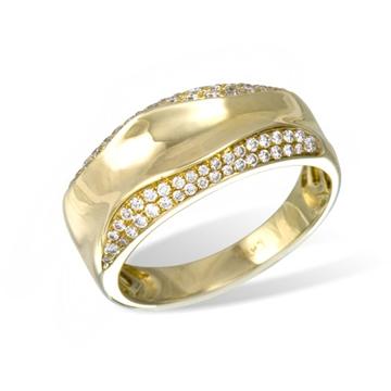 Кольцо  с бриллиантами из желтого золота R25379YG от EVORA