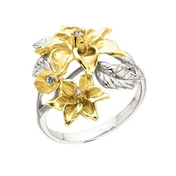 Кольцо 'АФРОДИТА' из желтого золота К-14044