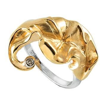 Кольцо 'БЛЮЗ' из желтого золота К-14050